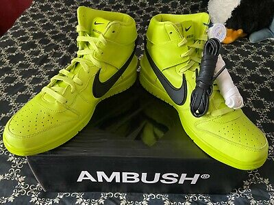 Nike Dunk High Ambush Mens Size 11 Atomic Green/Black Flash Lime Sneakers Shoes