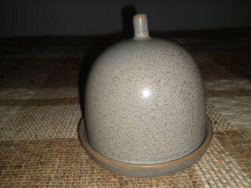 Bloomingville Kendra Butter Dome Dish Gray Tan Stoneware