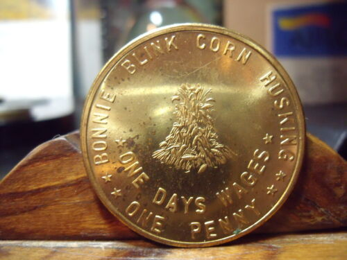 """BONNIE BLINKCORN HISKING  """"ONE PENNt"""" ONE DAYS WAGES Medal  MARYLAND 1968"""