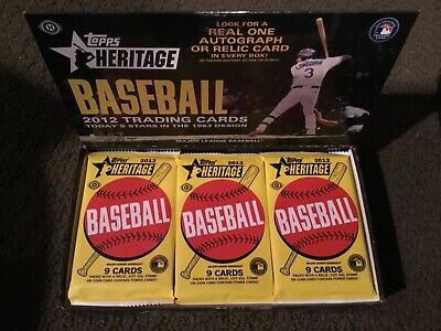 2012 Topps Heritage Baseball Sealed 2 PACK LOT  -TROUT ROOKIE CARD AUTO POSSIBLE