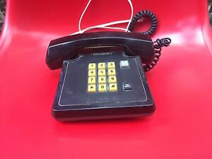 Vintage push button black working home phone CanDeliver Botany Botany Bay Area Preview