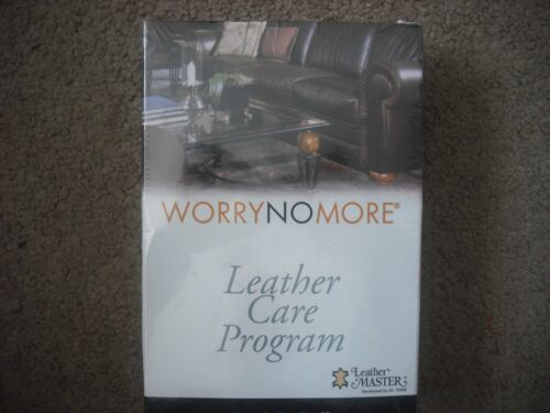 Worry No More Leather Care Program Leather Master for Leather Types A & P Sealed