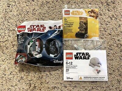 LEGO Star Wars Darth Vader Lot 5005376 & 40300 & Mini Millennium Falcon New