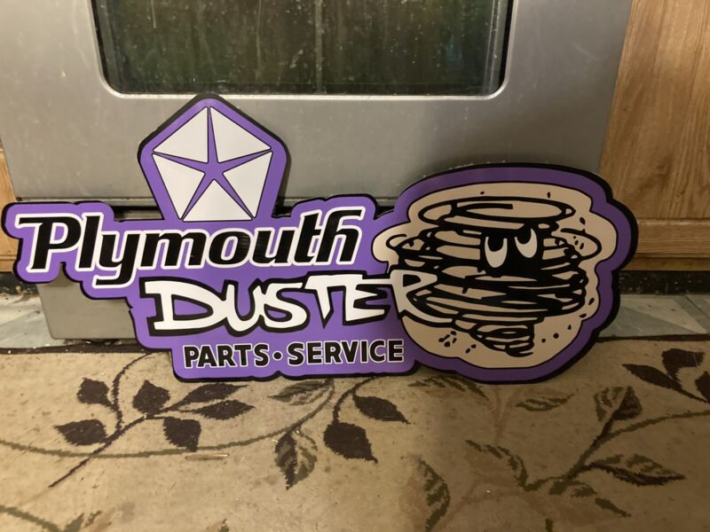 PLYMOUTH DUSTER SIGN