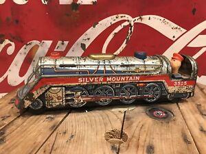 Silver Mountain tin toy train
