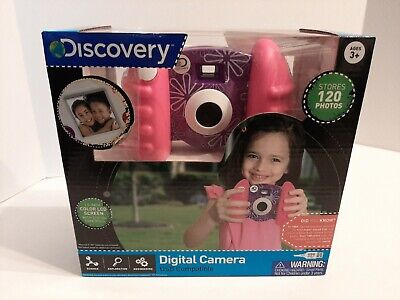 Used, Discovery Kids Digital Camera USB Compatible Pink & Purple Stores 120 Photos for sale  Shipping to India