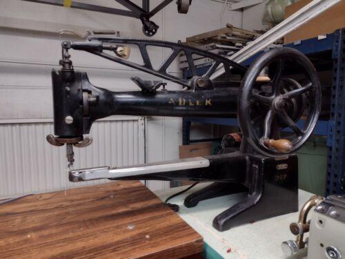 Adler long arm patcher, shoe repair, shoe making, patcher sewing machine