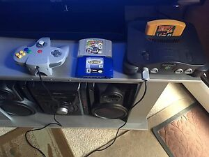 N64, 3 games and controller with all wires!