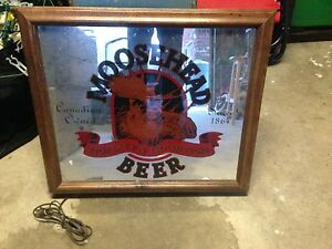 Moosehead beer light up beer mirror sign