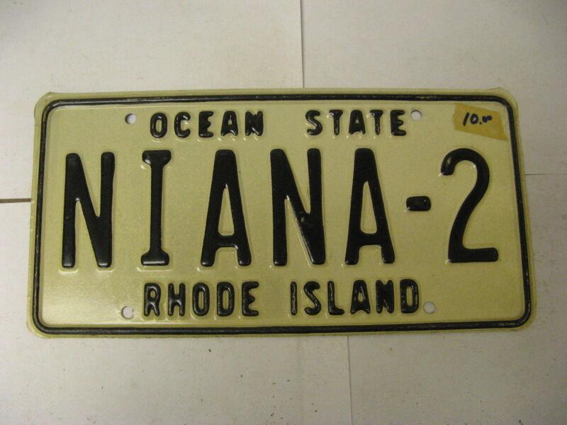Rhode Island RI License Plate Vanity NIANA-2