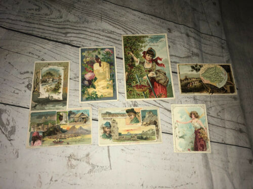 Vintage Postcards Historical Advertising Lion Coffee Trade Cards Cape Colony