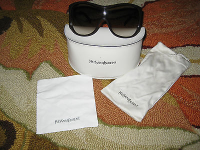 YVES SAINT LAURENT YSL SUNGLASSES SHADES SUNNIES 6107/S KPZ BEDAZZLED BROWN $385