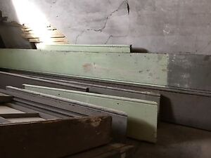 Antique baseboard salvaged from old hotel