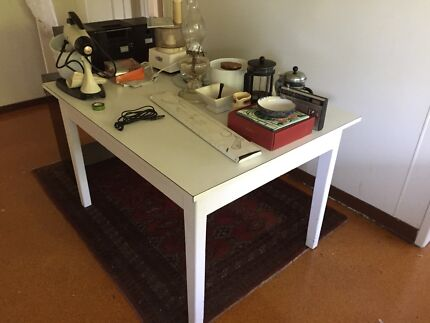 Solid Wooden table with laminex top