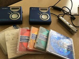 2x Sony Walkman mini disc player / recorder MZ-NF620 type s