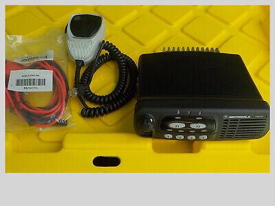 Motorola Cdm750 Vhf Mobile Radio W Mic Power Cord