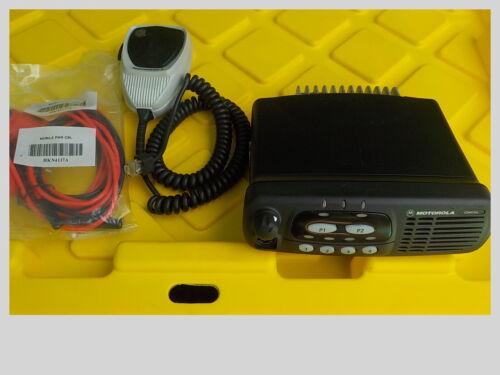 Motorola CDM750 VHF mobile radio w/ mic & power cord