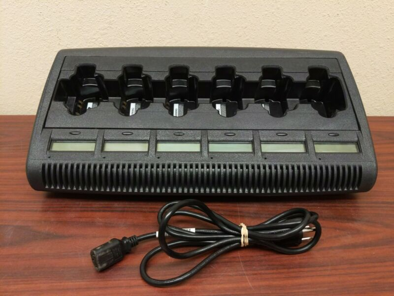 IMPRES NNTN7072B 6 bay Motorola Charger w/ LCD Displays and Power cord