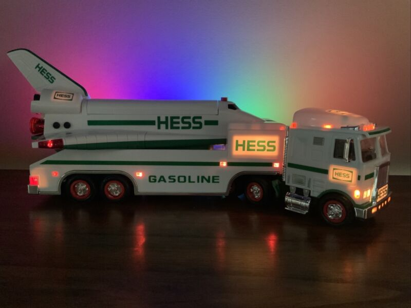 1999 HESS TOY Truck & SPACE SHUTTLE~sounds~lights~multi-functioned~Tested