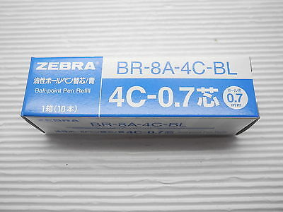 Free Ship 5 Pcs Refills Zebra 4c-0.7 Ball Point Pen Refill Br-8a-4c-bl Blue Ink