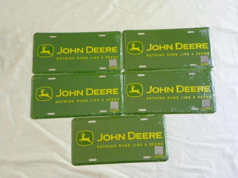 License Plate Lot: John Deere (total 5)