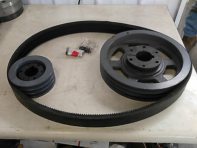 Quincy Drive Group 140117-502 Change From 30hp To 50hp Pulleys Belts