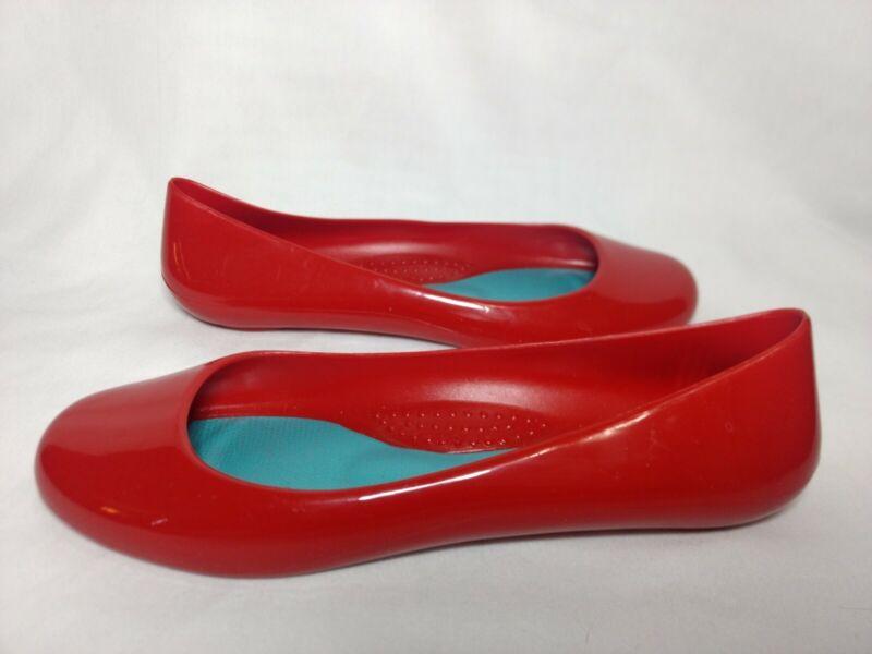 Oka B Womans Red ballet flat Slip On Shoes 8