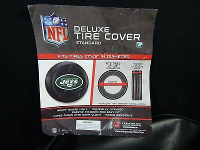 NEW YORK JETS NFL DELUXE Tire Cover with Logo - Deluxe Size 27-29
