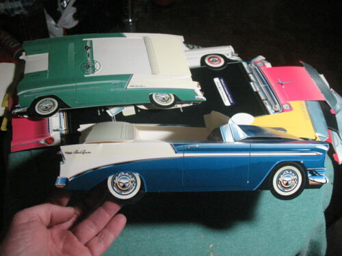 fold together paper cars by classic cruisers