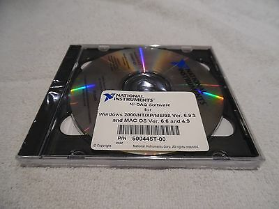 National Instruments 500445t-00 Ni-daq Software 2000ntxpme9x New Sealed