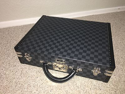 New Louis Vuitton President Briefcase Damier Graphite Mint Condition FREE SHIP