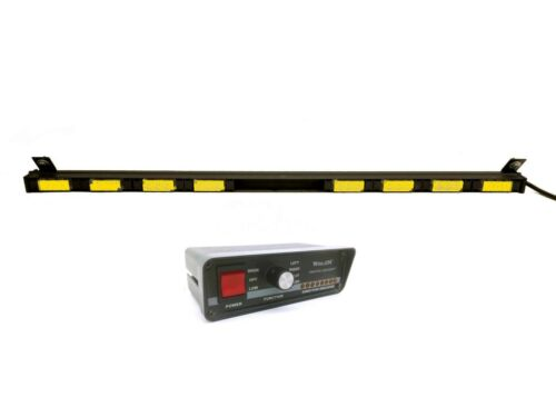 "Whelen Traffic Advisor TIR3 Super 8 Amber LED 43.5"" Light Bar & TACTLD1 Control"
