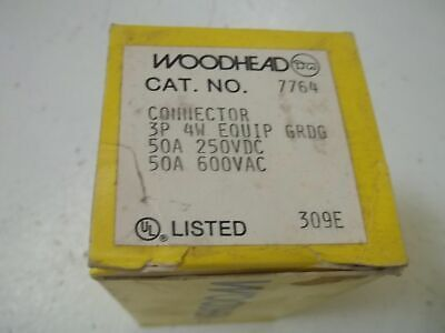 Woodhead 7764 Connector 3-pole 4-wire New In Box