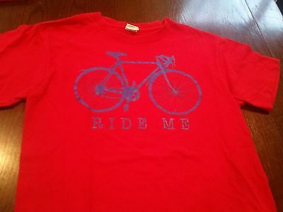 RIDE ME Single Gear Bicycle Cycling Biking Double Entendre Graphic T-Shirt (S)