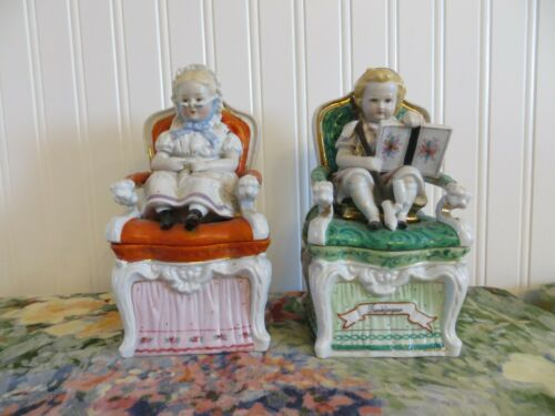 Antique Germany porcelain tobacco boxes