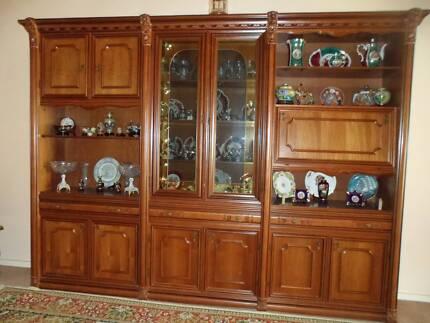 Quality Italian Timber Wall Unit | Cabinets | Gumtree Australia ...