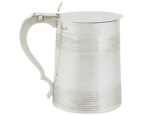 Georgian Sterling Silver Half Pint Tankard 1780s