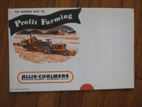 """Allis Chalmers WD C B G tractor Mailer Brochure """"still sealed new old stock"""""""