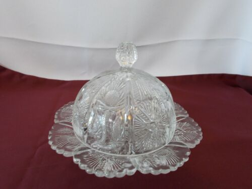EAPG Higbee Paneled Thistle Domed Butter Dish