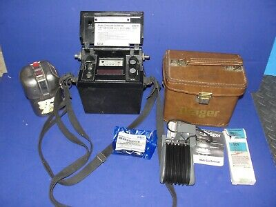 Drager Model V-31 Kit Ch 304d Plus Msa Methane Monitor And Msa Mine Escape Mask
