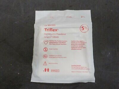 Cardinal Health Trifles Latex Surgical Gloves Sterile Size 5.5