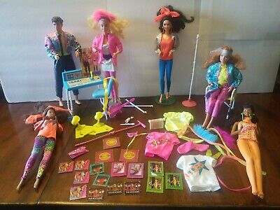 Barbie And The Rockers Doll And Accessory Lot