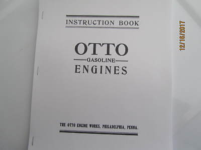 Otto Gas Engine Instruction Parts Manual Hit Miss Engine 4 Sizes