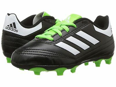 60f5f23da Adidas Kids Boy Girl Soccer Cleats Goletto VI FG J Black Neon Green US 3  BB0570