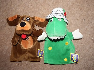 RARE bundle The wiggles hand puppet soft plush figure toy Dorothy & Waggs dog