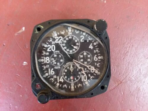WW2 Military Hamilton Elgin 37500 Aircraft Clock 8 Day Cockpit Dash RUNNING!!!!!