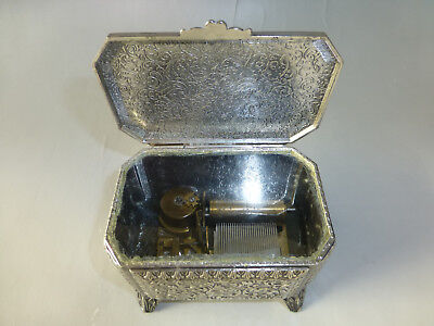 Antique Paillards Movement TABATIERE MUSIC BOX Singing Bird Box Size Metal Case