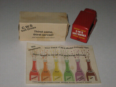 Corgi Toys Mettoy C.W.S. Delivery Van Rare Promotion W/ Original Box & Leaflet