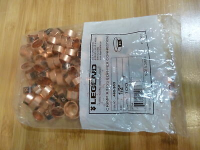 Pack Of 100 Legend 12 Pex Crimp Rings Copper