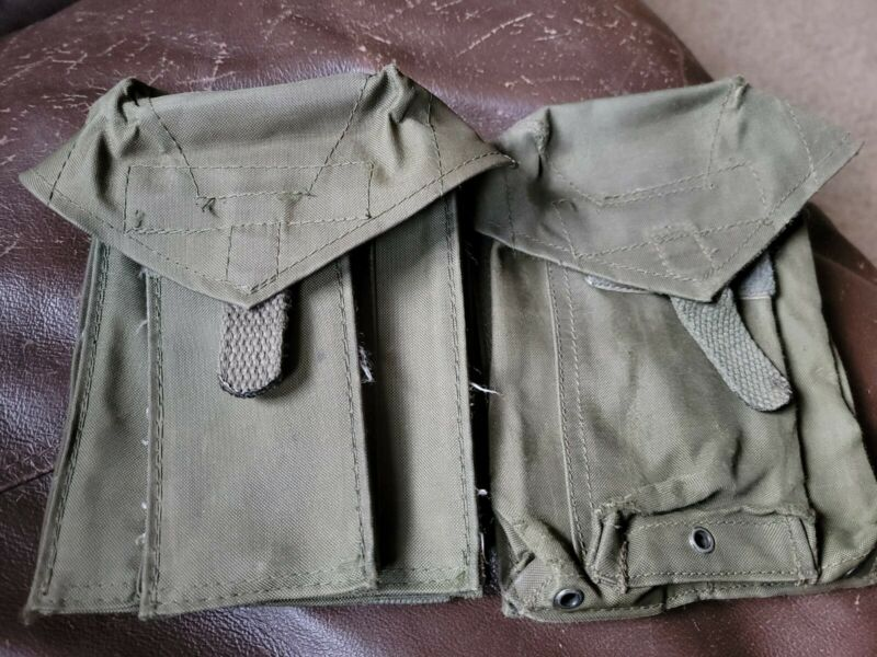 2 Genuine French Army FAMAS Magazine nylon pouch, good used condition 1st Gen?
